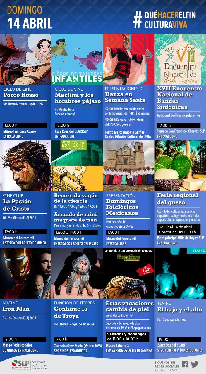 Fin de semana de actividades culturales, para iniciar la Semana Mayor en San Luis Potosí #CulturaViva