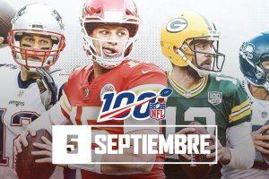 Revelan el calendario de la temporada 2019 de la NFL