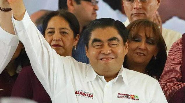 Barbosa aventaja con el 51.9% a la gubernatura de Puebla