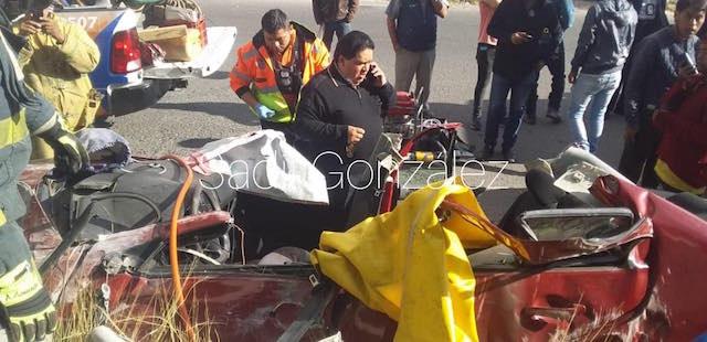 Exceso de velocidad provoca fuerte accidente en la federal a Tehuacán