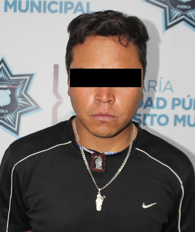 Continúa el combate frontal contra el robo a transeúnte; detuvo SSC de Puebla a cuatro probables asaltantes.