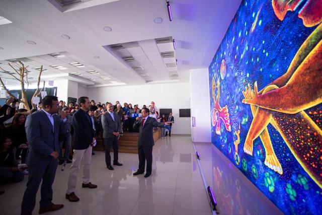 Inaugura Rector Alfonso Esparza mural en reconocimiento a sus estudiantes de pueblos originariosP