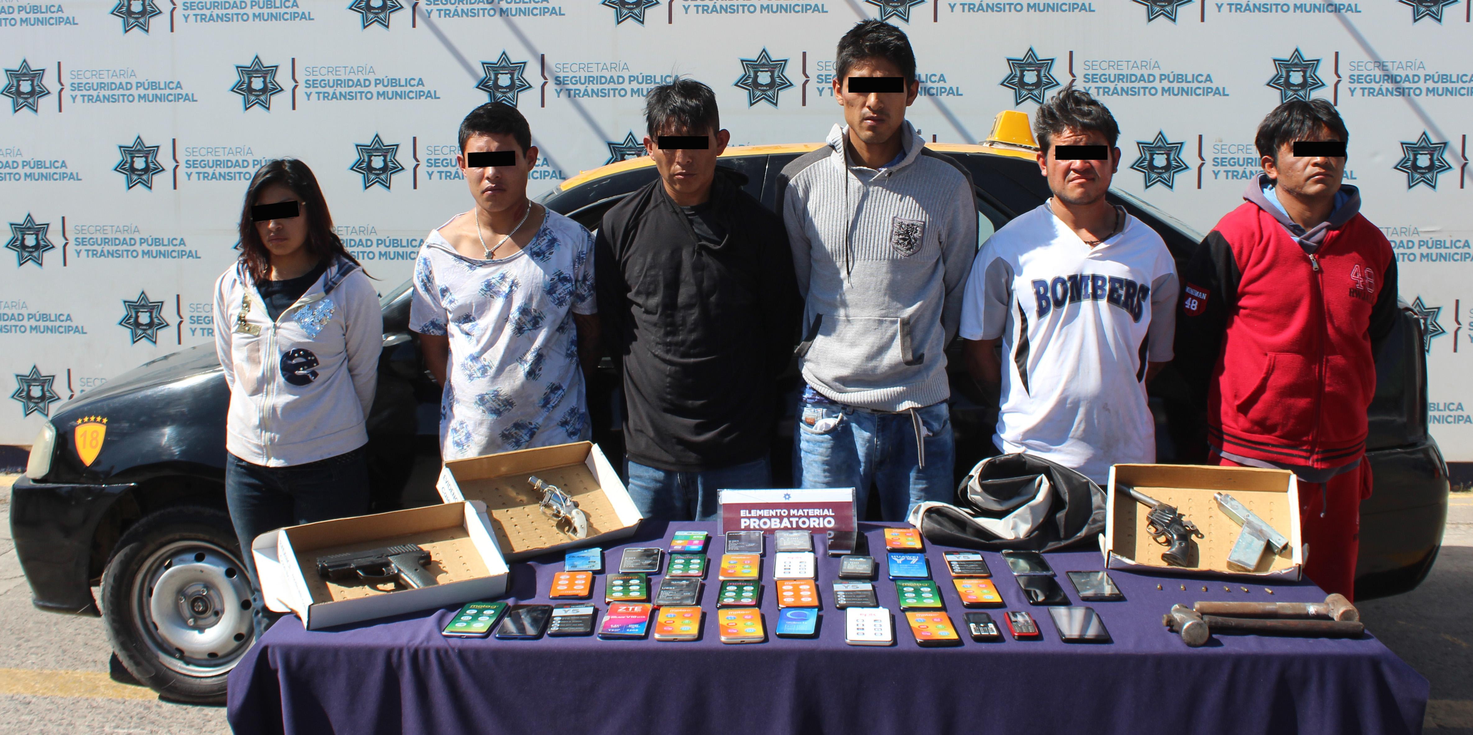 Contundente golpe contra la delincuencia en Puebla! Detuvo SSC a seis personas por robo a tienda Elektra