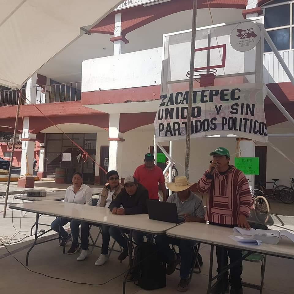 Sin aval de los Gobiernos Estatal o Municipal de Juan C. Bonilla, eligen nuevas autoridades en Zacatepec