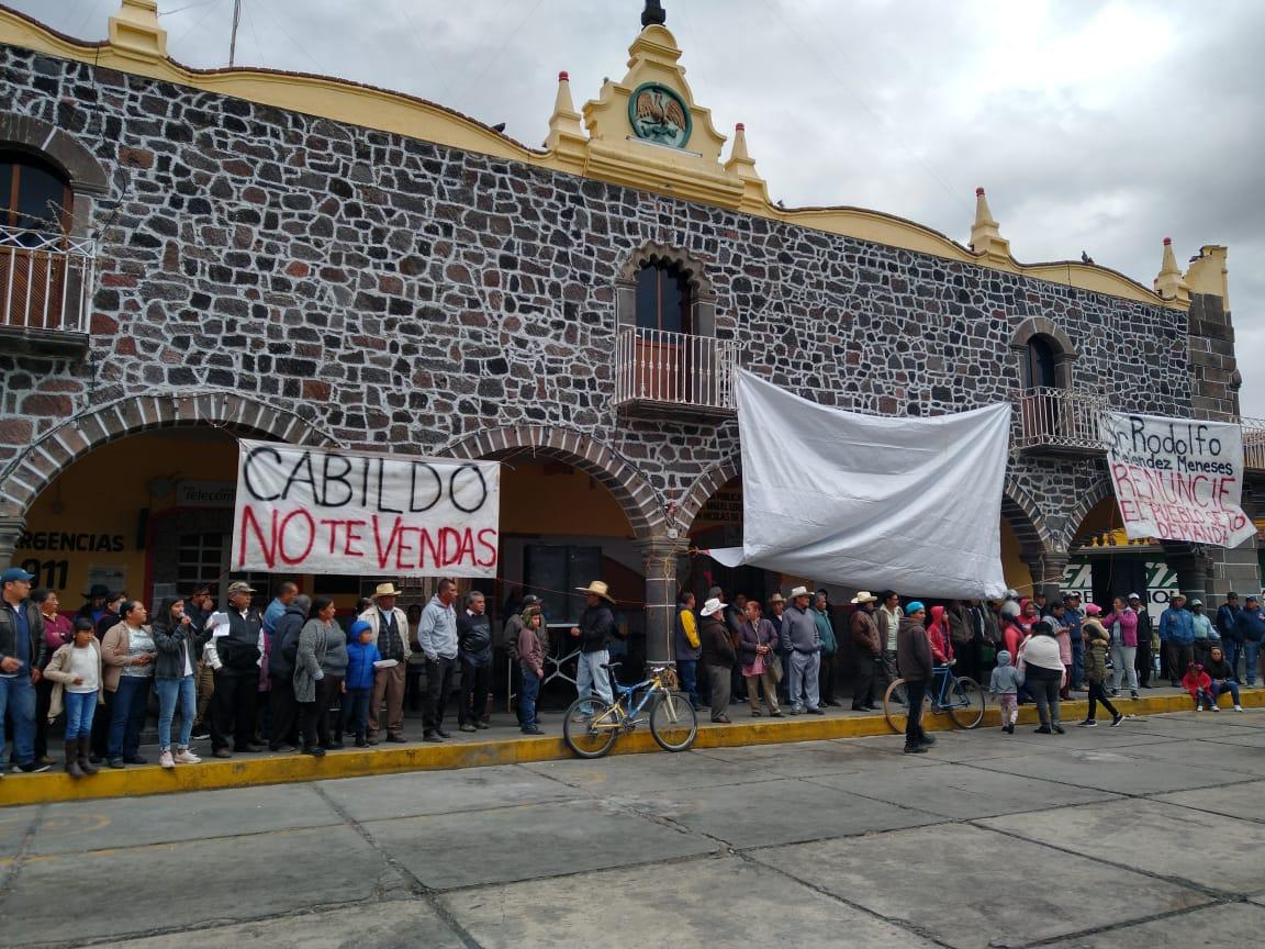 Pobladores cumplieron 15 días de tomar la alcaldía de San Nicolás de los Ranchos