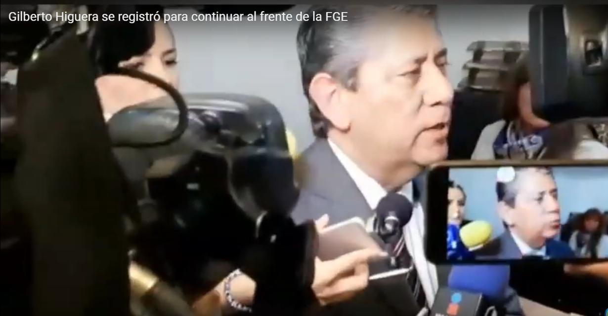 Gilberto Higuera se registró para continuar al frente de la FGE