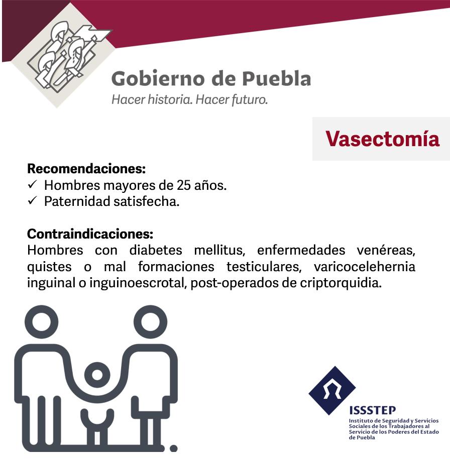 ISSSTEP invita a jornada gratuita de vasectomía sin bisturí