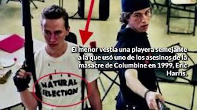 Alumno de Torreón usó vestimenta semejante a la de un autor de la matanza de Columbine en 1999 (video)