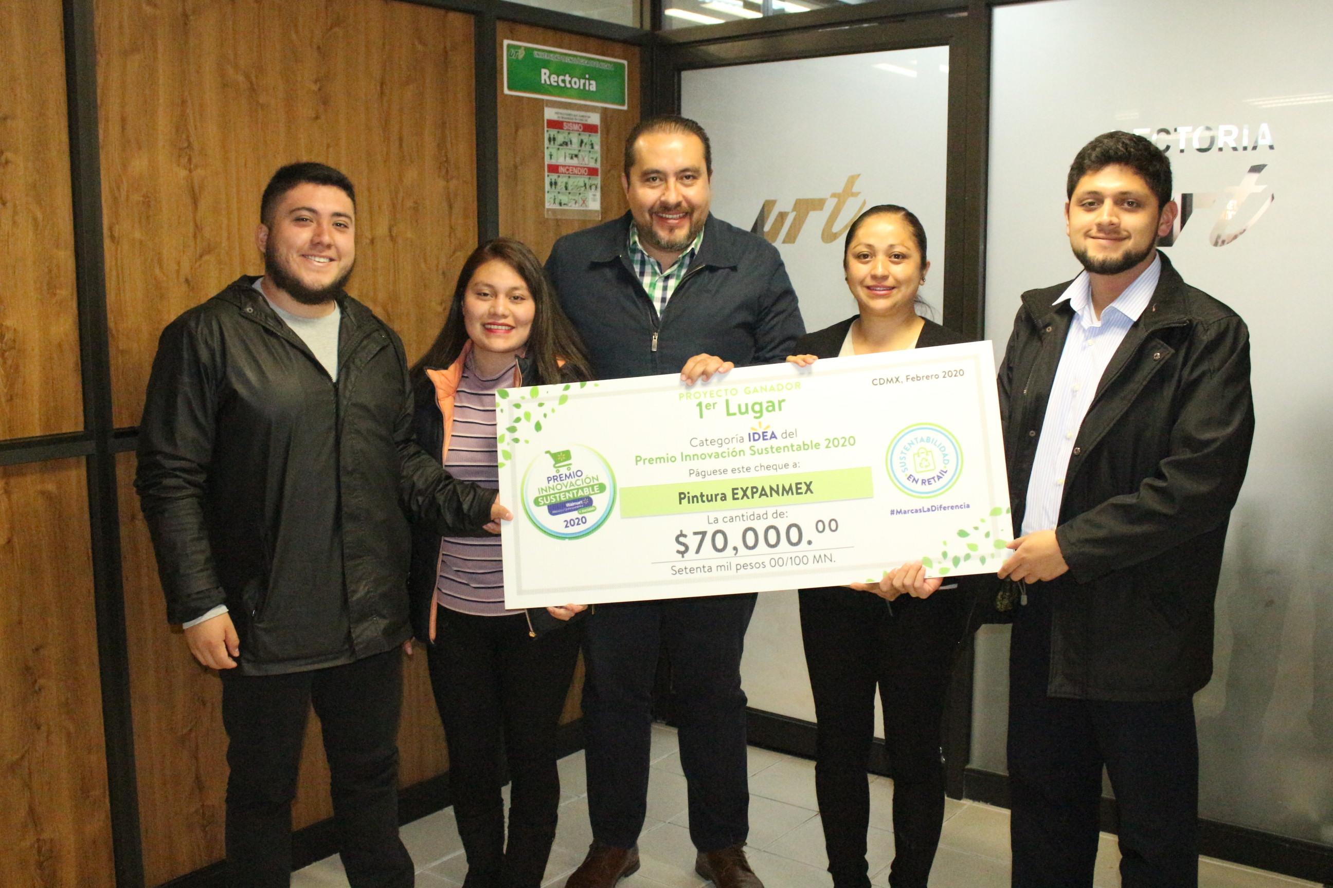 Estudiantes de UTT obtienen premio en innovación sustentable de Walmart