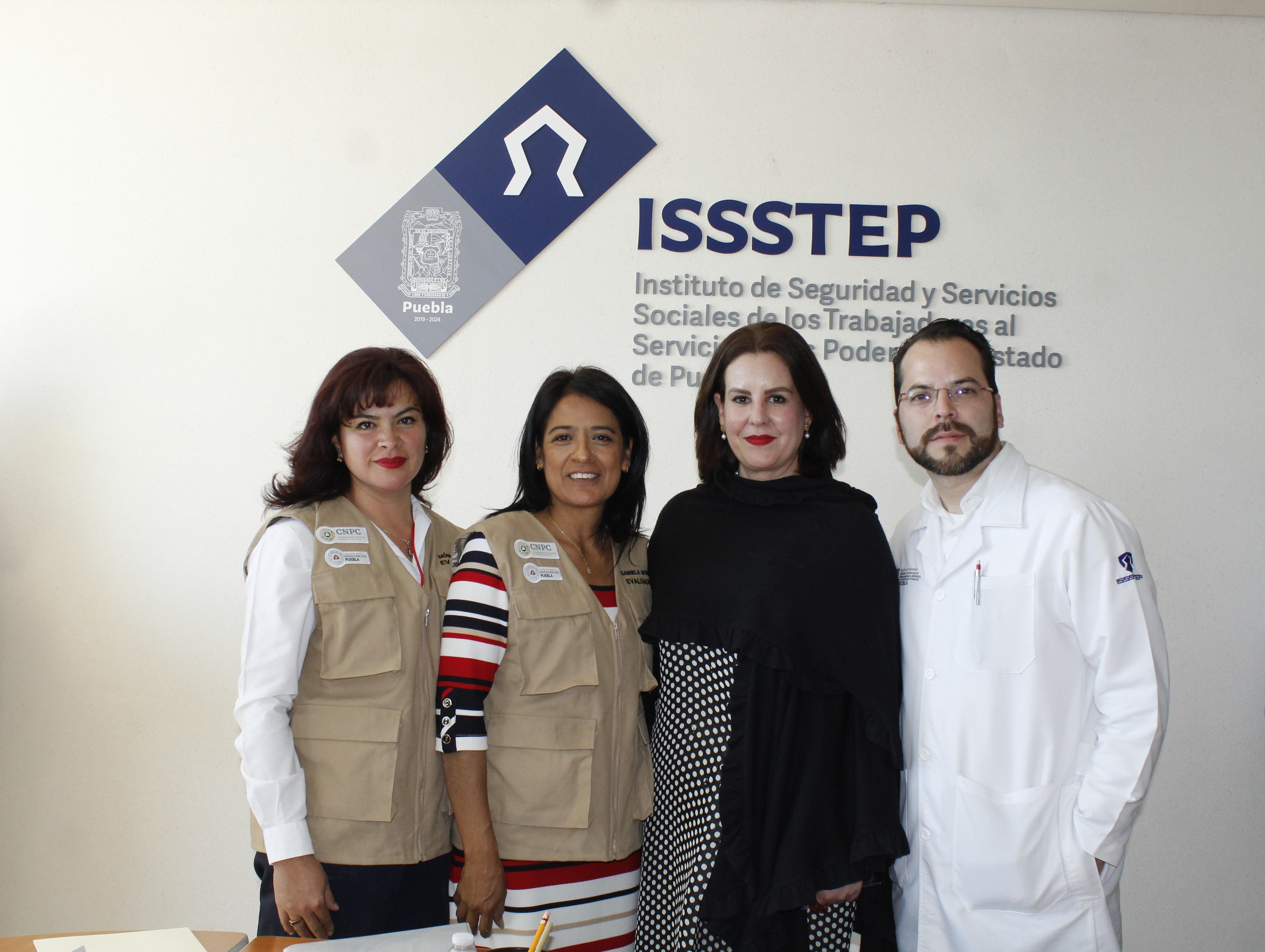 ISSSTEP, sede de reunión de Coordinación Nacional de Protección Civil