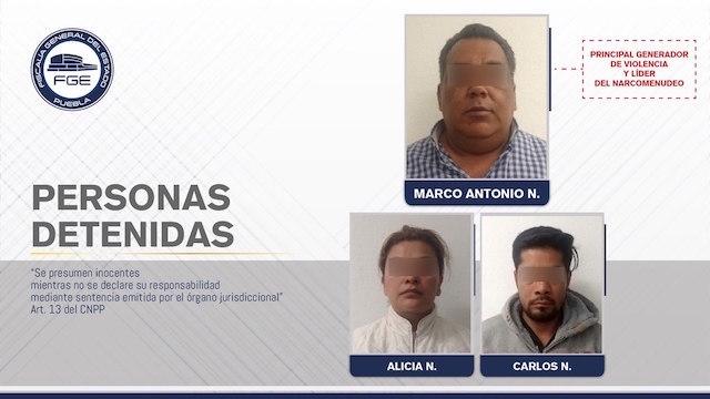 Fiscalía Puebla detiene al principal generador de violencia y líder del narcomenudeo