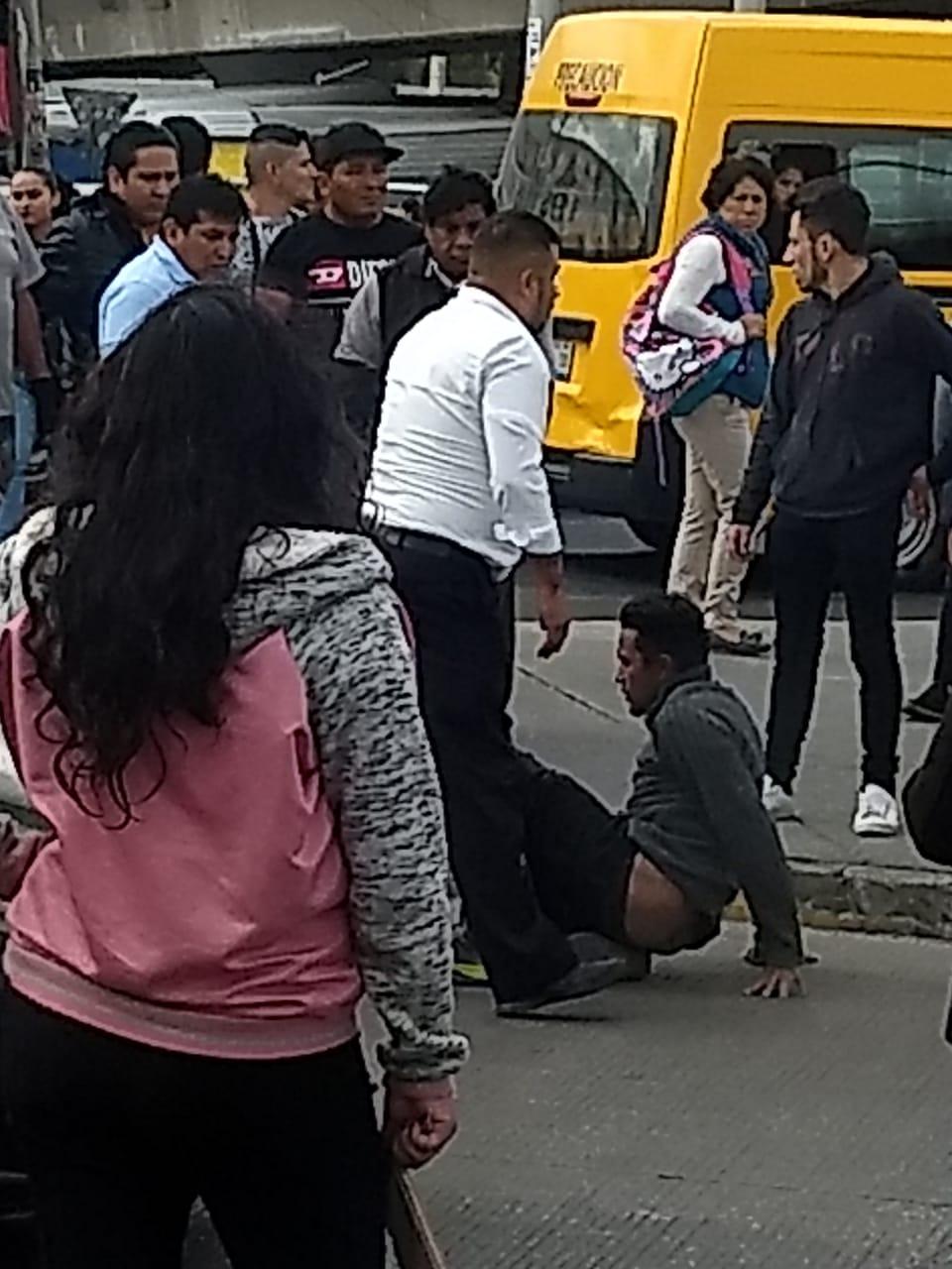 Comerciantes y transeúntes atrapan a presunto ladrón en la zona de la Capu