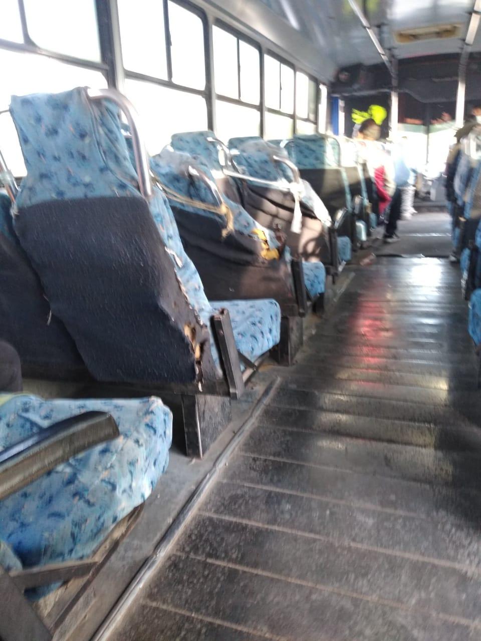 Estas son las condiciones en las que se encuentra una unidad de transporte público