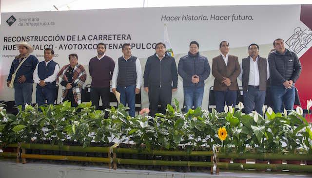Inaugura el gobernador Miguel Barbosa reconstrucción de la carretera Hueytamalco-Ayotoxco-Tenampulco