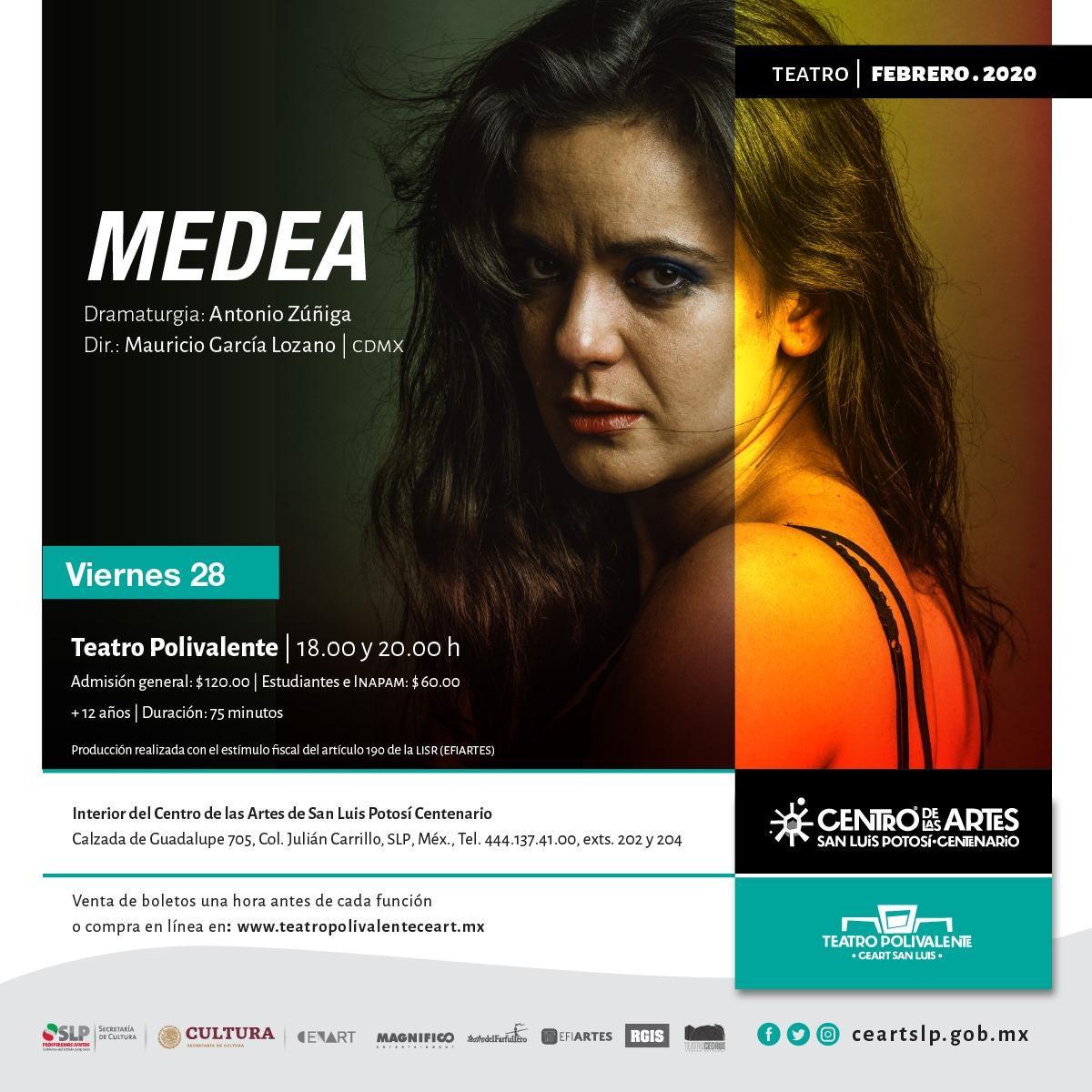 Medea en el Teatro Polivalente del CEARTSLP
