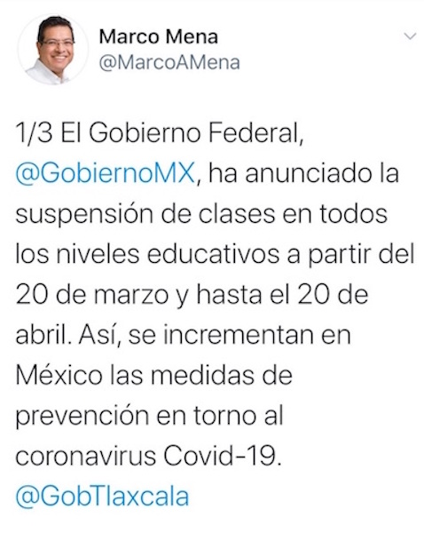 Gobierno del estado reforzará medidas de prevención por covid-19: Marco Mena