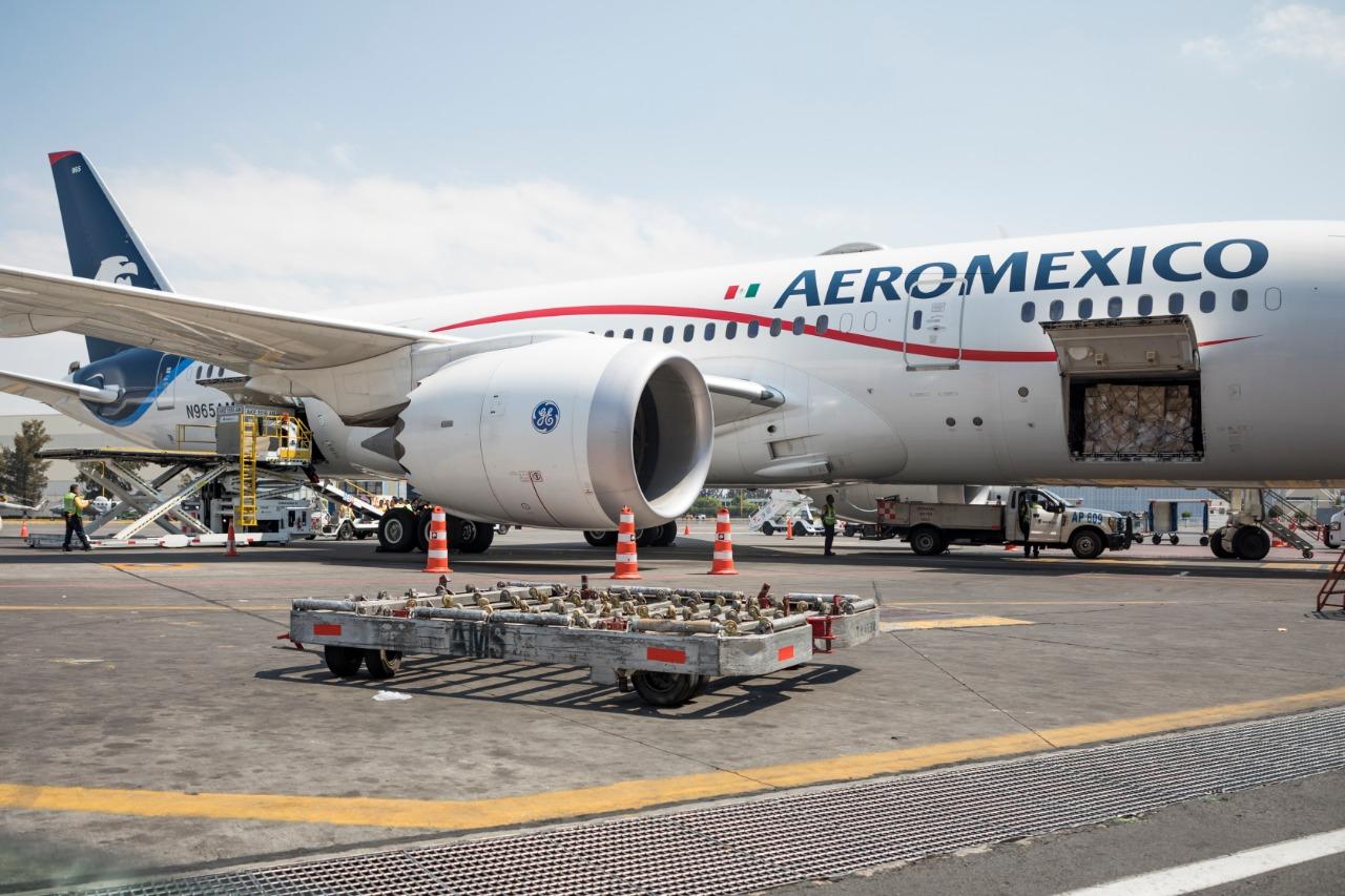Aeroméxico utilizará sus aviones de pasajeros para transportar carga