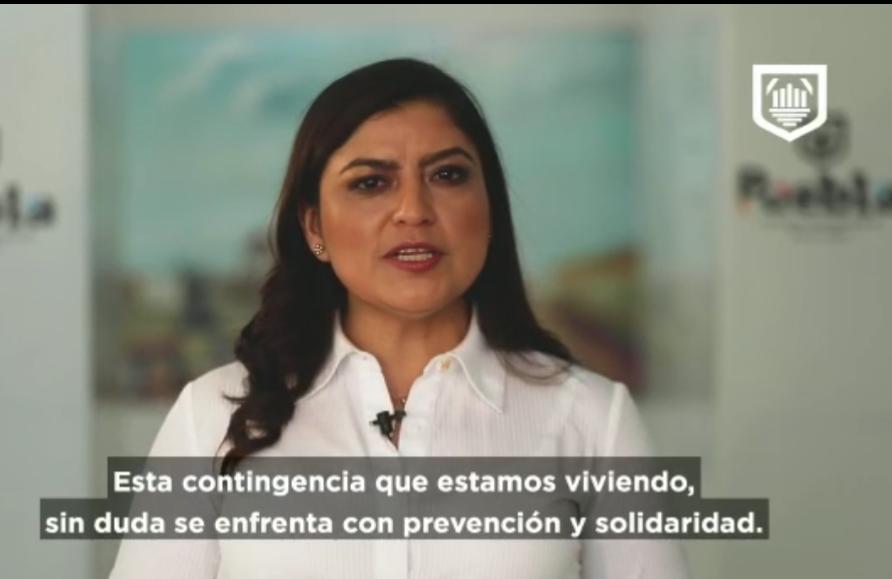 Vídeo desde Puebla: Claudia Rivera pide a sus colaboradores donar parte de los salarios para apoyar a afectados por el covid-19