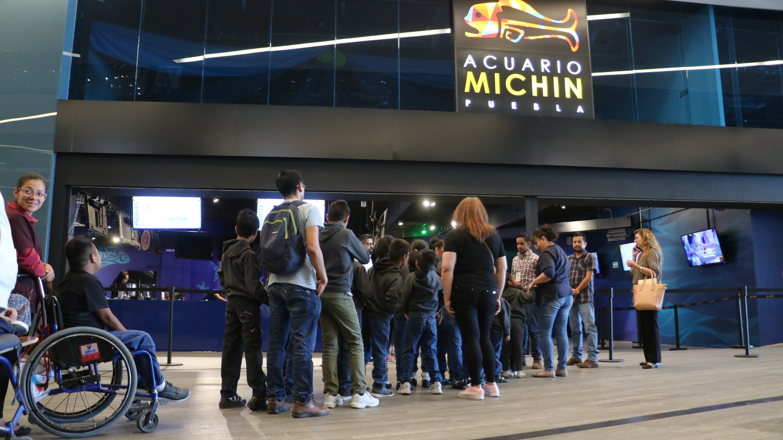 Disfrutan niñas y niños del SEDIF paseo por Acuario Michin