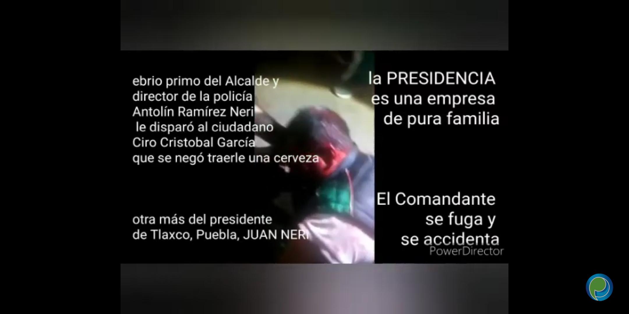 Acusan al director de la policía de Tlaxco de disparar a un ciudadano por no llevarle cerveza