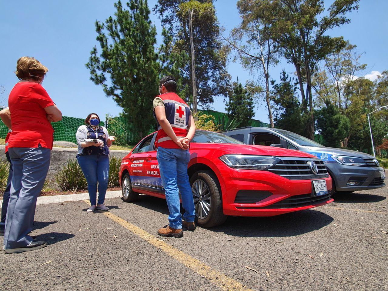 Volkswagen Financial Services pone a disposición dos vehículos para Cruz Roja Ciudad de Puebla durante la contingencia
