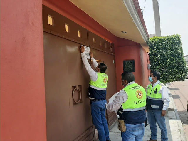 Desde Tlaxcala: Clausura CEPC salón social en Panotla por no respetar medidas preventivas por covid-19
