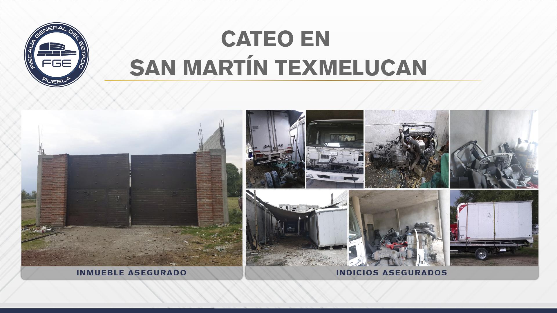 En San Martín, Fiscalía cateó inmueble con autopartes robadas