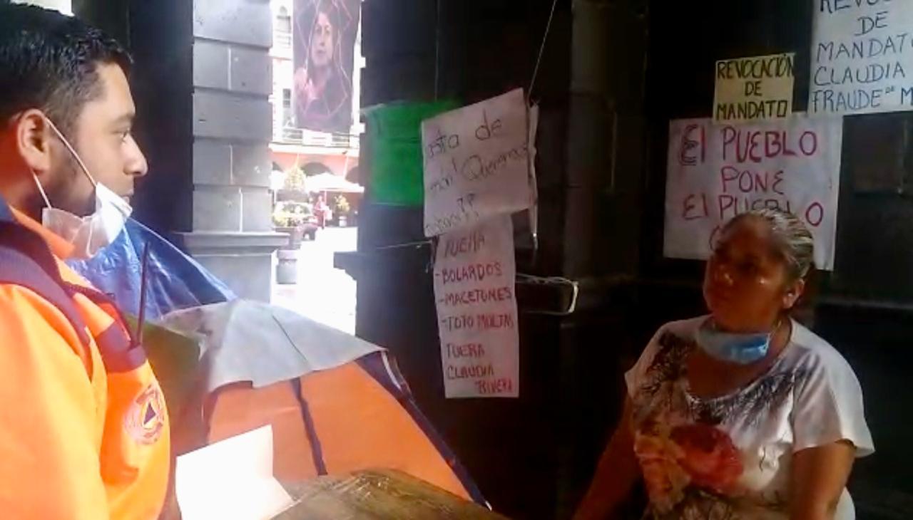 Protección Civil Municipal exhorta a manifestantes a retirarse ante riesgos sanitarios
