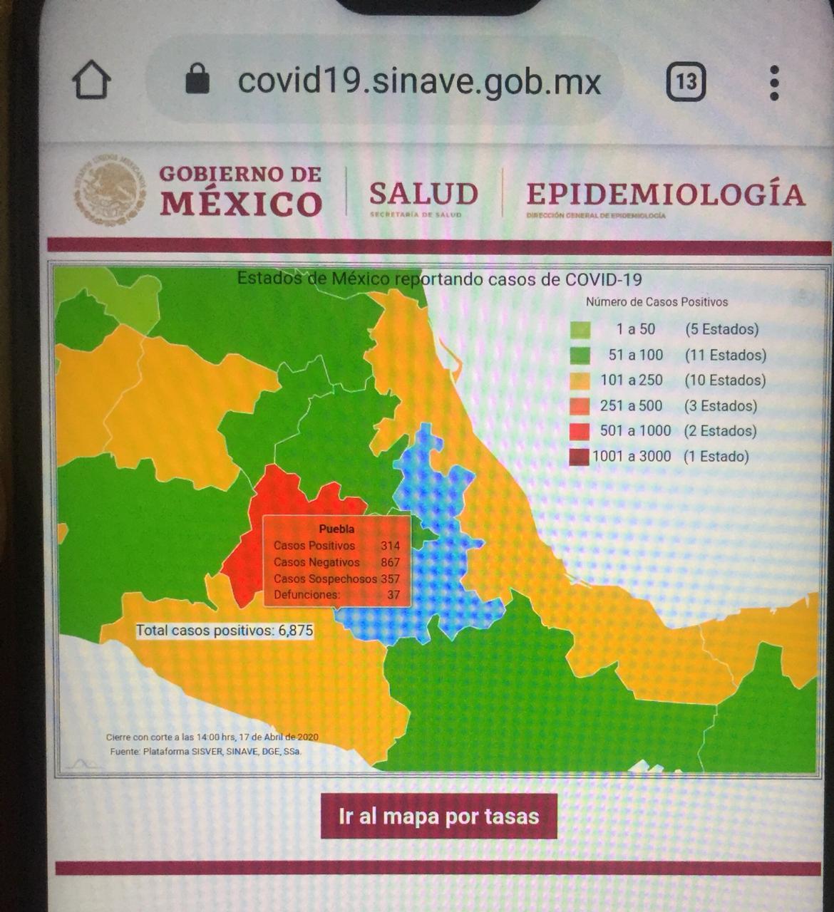La cifra de decesos por Covid en el territorio mexicano es de 546
