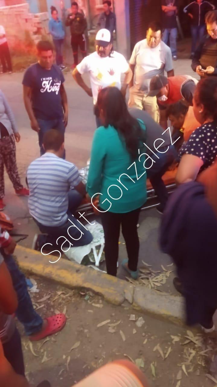 Atropellan a un hombre a 3 calles del centro de Amozoc