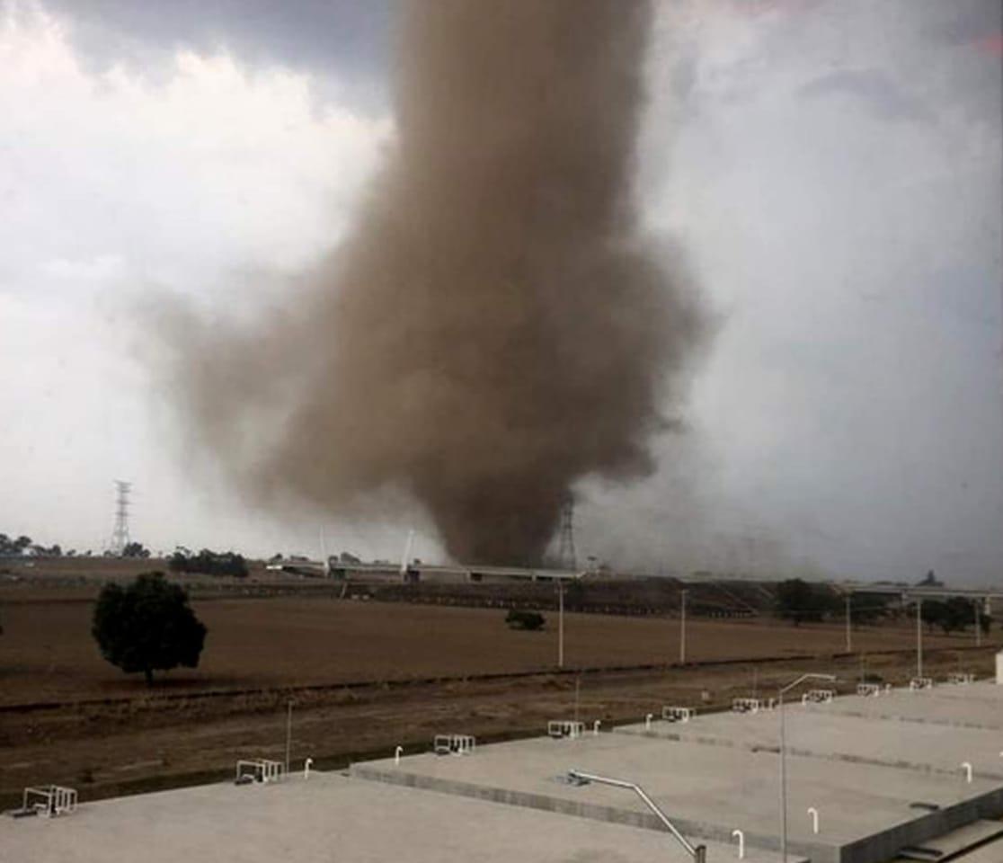 Vecinos reportan dos tornado entre Huamantla Tlaxcala y San José Chiapa Puebla