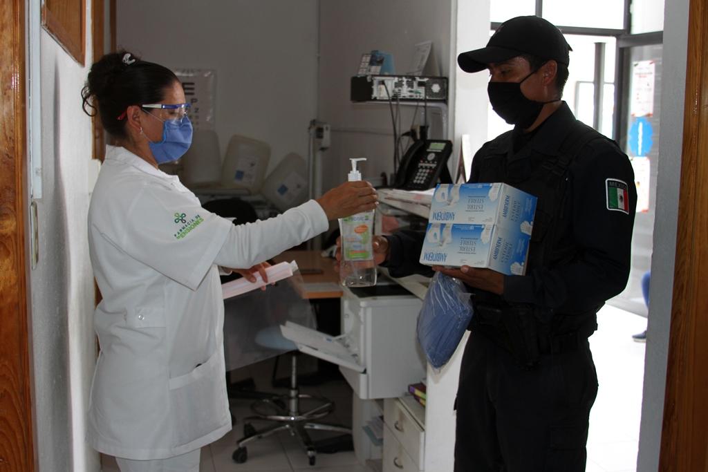 Desde Tlaxcala: SSC refuerza la entrega de insumos para el cuidado de todo el personal ante la contingencia por covid-19