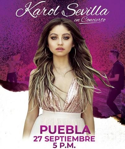 El concierto de Karol Sevilla en Puebla, se pospone al domingo 27 de septiembre a las 17:00 horas en el Auditorio Metropolitano