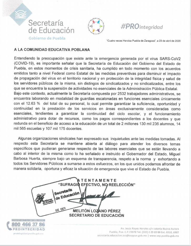 SEP estatal, con la disposición de atender las inquietudes y demandas de los maestros