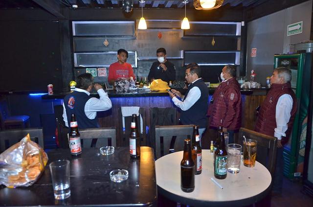 Gobierno estatal realiza operativo en bares, antros, restaurantes y centros nocturnos, para verificar que estén cerrados