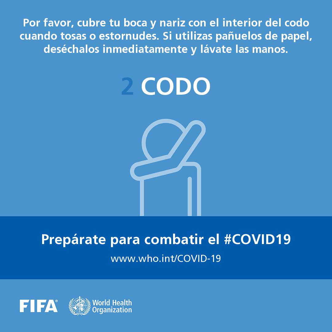 La FIFA y la Organización Mundial de la Salud (OMS) de la mano contra el Covid-19