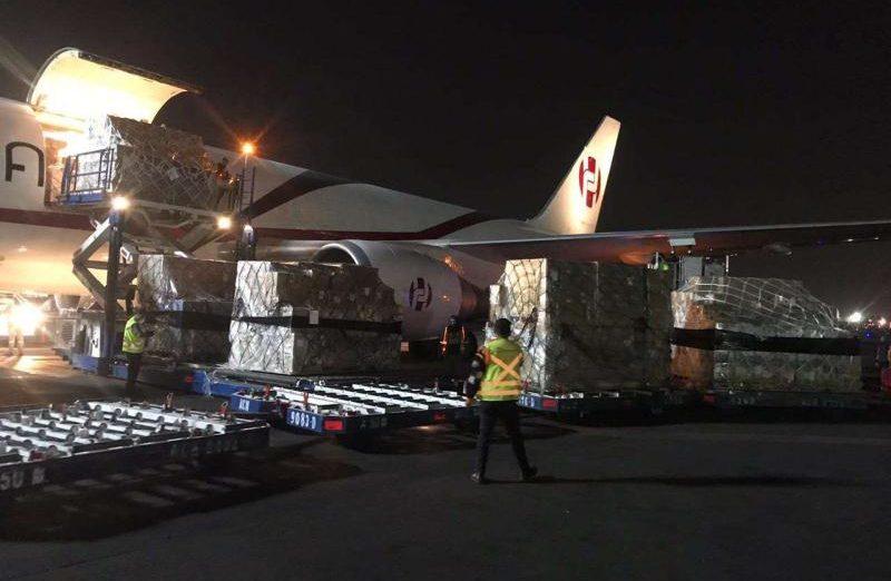 Llega a México donación de China: 50 mil kits para detectar covid-19, 5 respiradores…