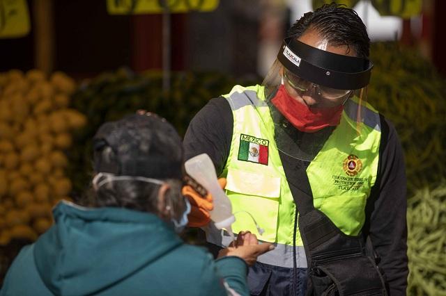Desde Tlaxcala: Distribuyen filtros sanitarios del gobierno estatal 7 mil cubrebocas en tianguis