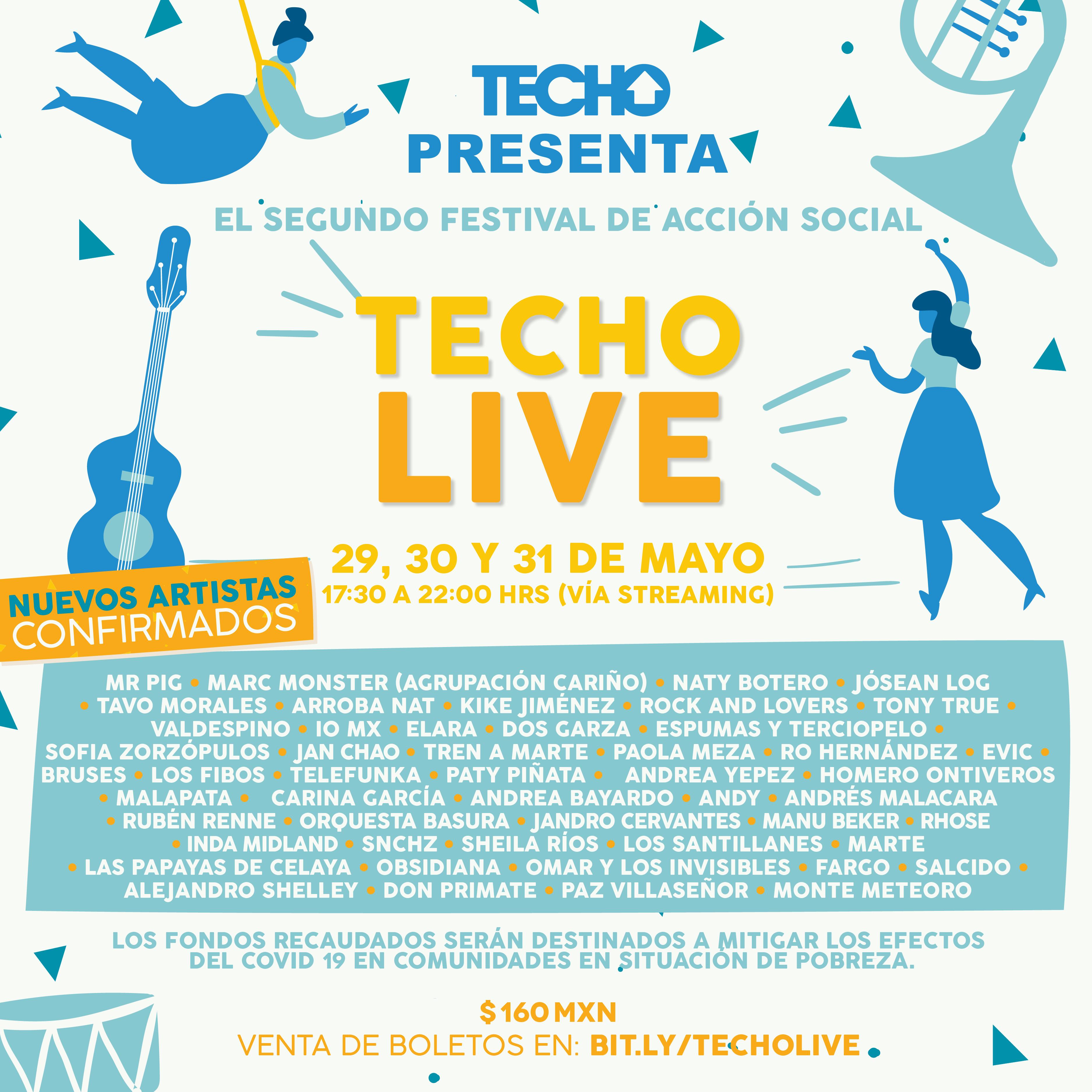 Techo Live: El festival de acción social para mitigar el covid-19 en comunidades en situación de pobreza