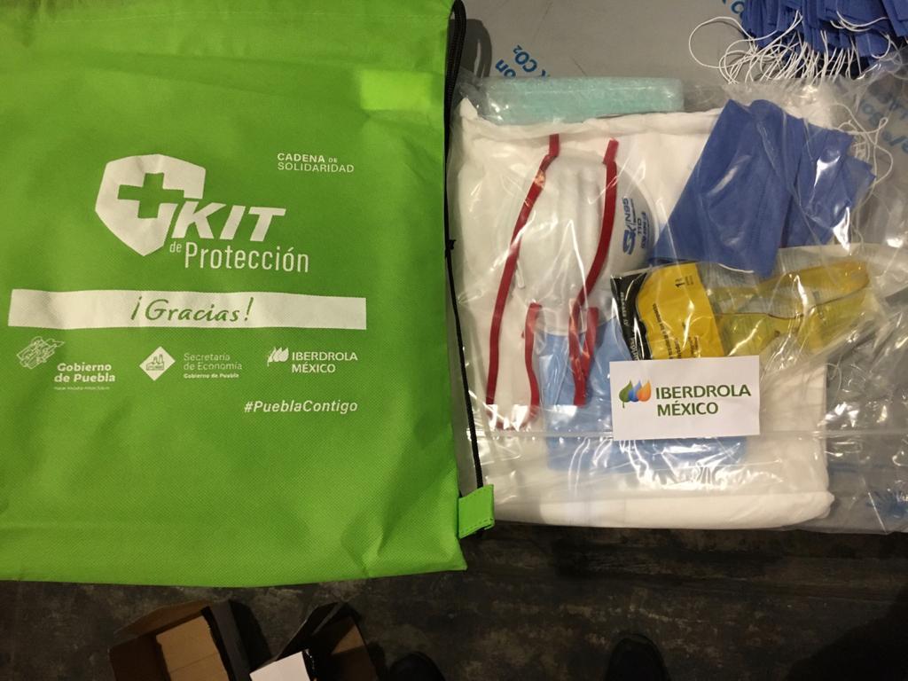 Dona Iberdrola México kits para personal de Hospitales Covid