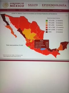 México lleva 5 mil 332 fallecidos y 51 mil 633 casos de Covid19: Salud federal