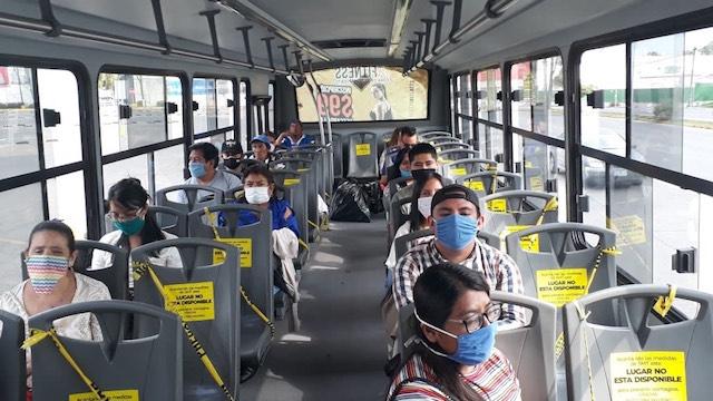 Sanciona la Secretaría de Movilidad y Transporte a 28 unidades del servicio público por circular con sobrecupo