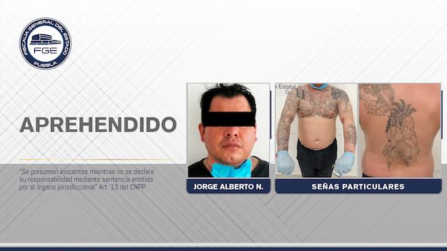 Fiscalía aprehende a presunto homicida de la zona de Atlixco