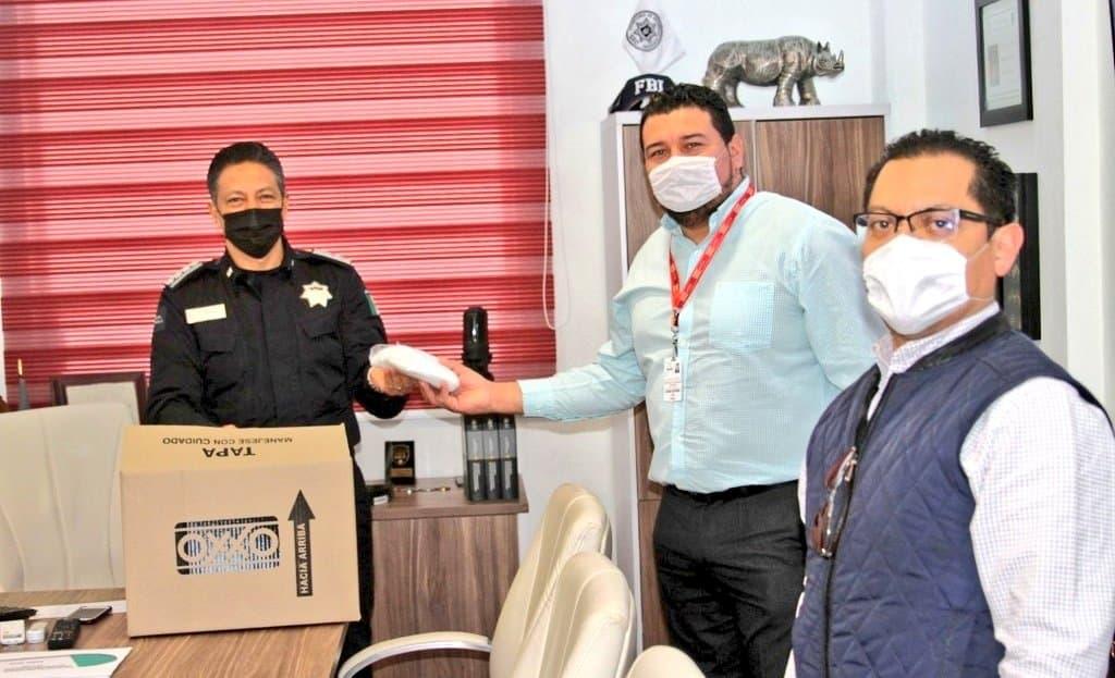 Desde Tlaxcala: SSC recibe donación de cubrebocas por parte de la empresa OXXO