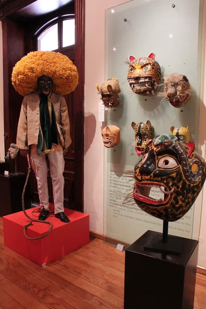 Tigres de Zitlala del Estado de Guerrero en el Museo Nacional de la Máscara