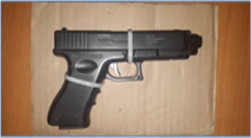 Policía Estatal asegura en Apizaco a una persona con posesión de arma de fuego y enervantes