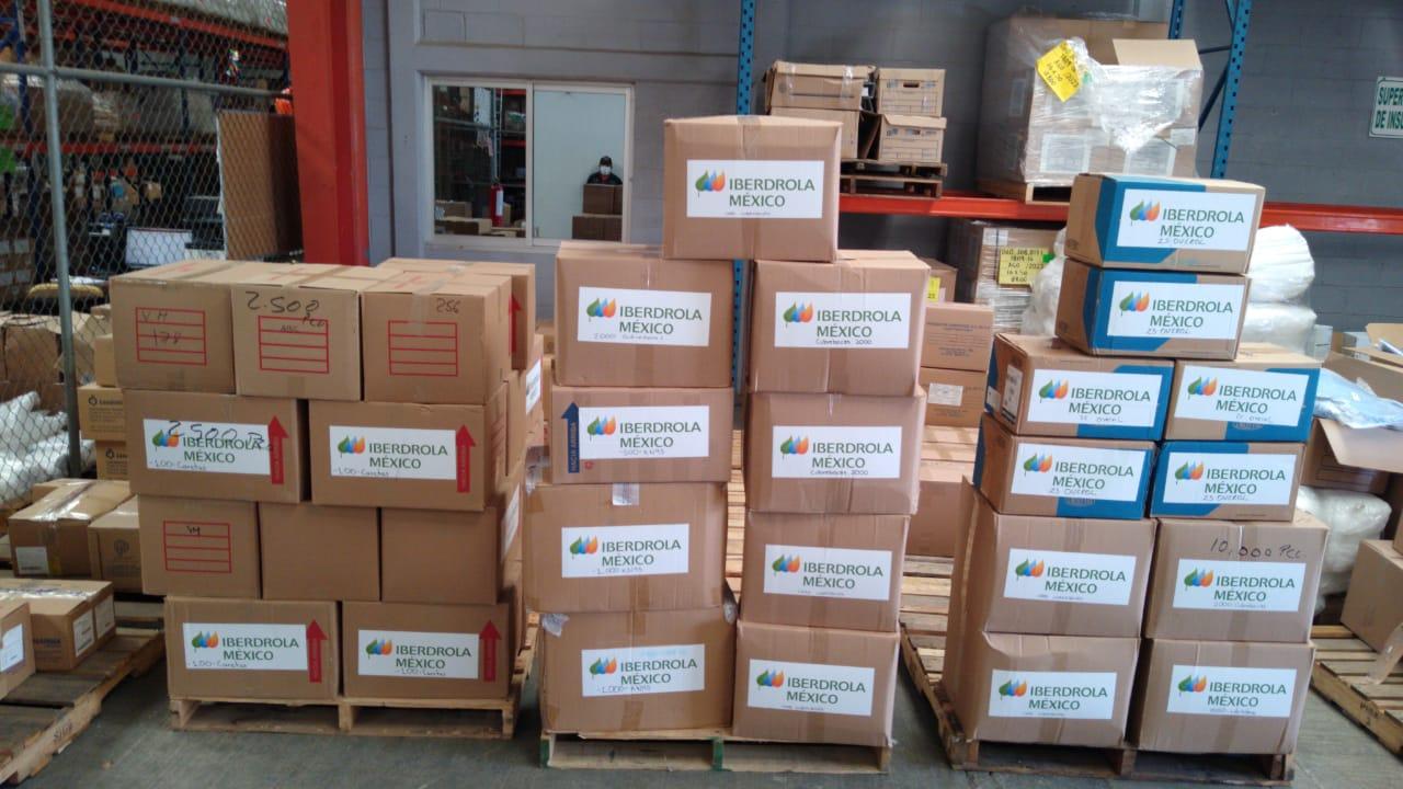 Recibe SESA segunda donación de insumos para Covid-19 de Iberdrola México.