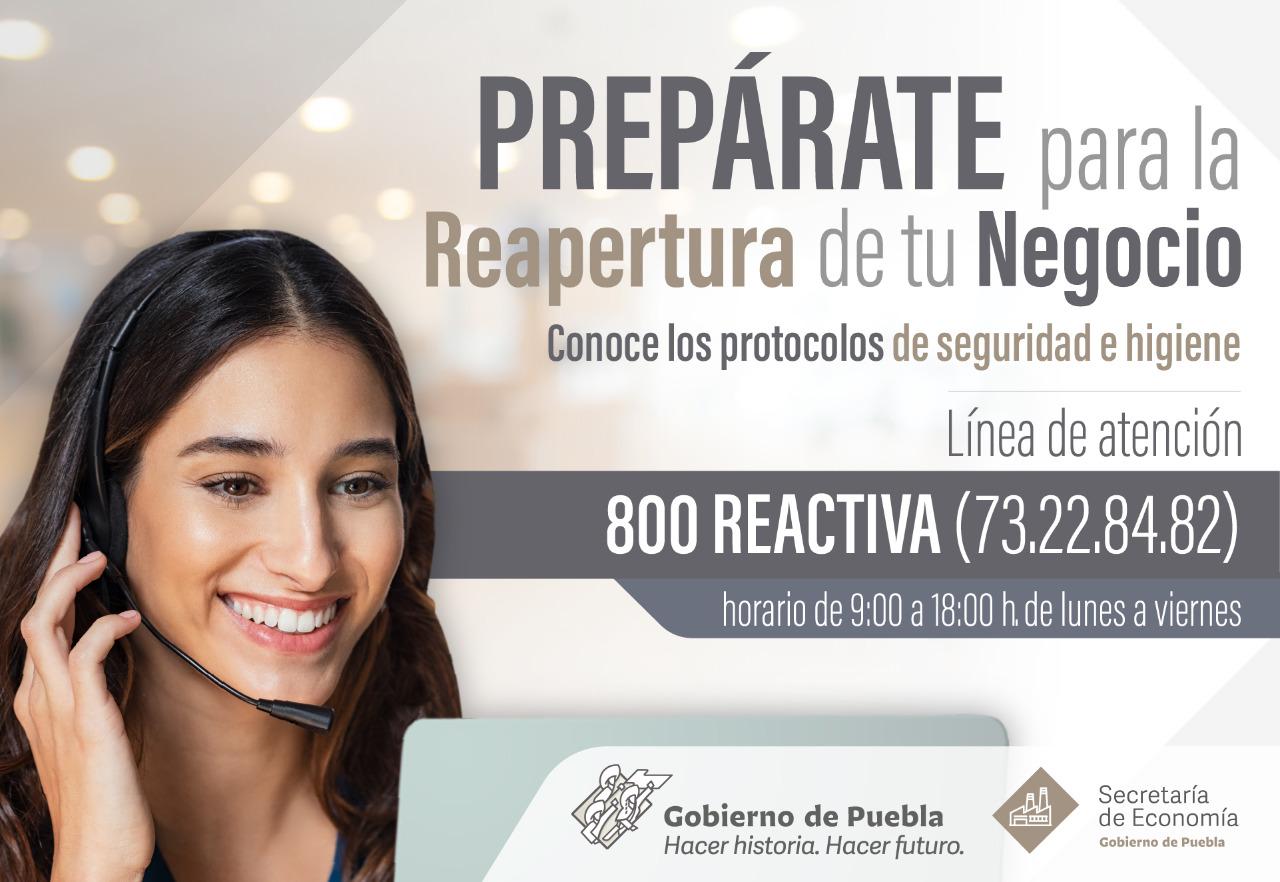 Anuncia Secretaría de Economía Línea 800 Reactiva