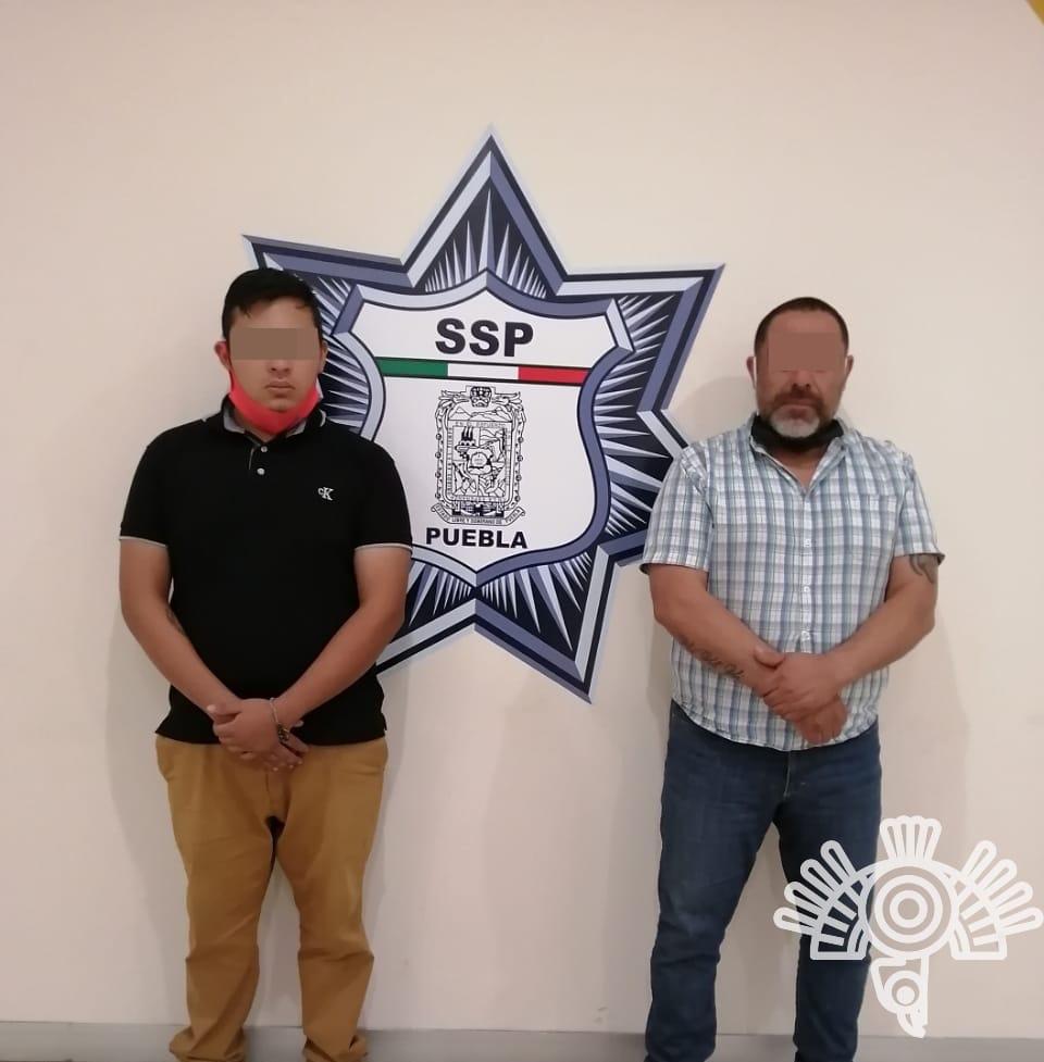 Policía estatal detiene a 2 rateros en San Andrés Cholula