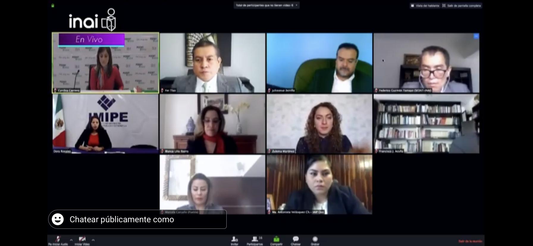 Participa comisionada presidenta del ITAIPUE en diálogos virtuales
